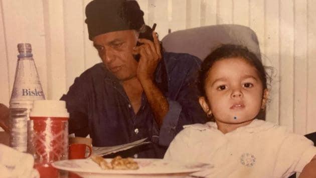 On Mahesh Bhatt's birthday, Alia Bhatt shared a childhood picture and a sweet wish.