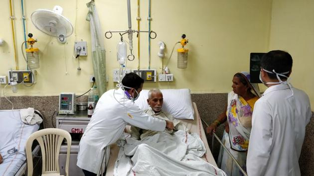 PMi Narendra Modi's vision is that the best health care should be accessible to the poorest of the poor as a matter of a right(Amal KS/HT PHOTO)