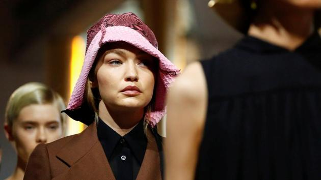 Model Gigi Hadid presents a creation from the Prada Spring/Summer 2020 collection during fashion week in Milan, Italy, September 18, 2019. REUTERS/Alessandro Garofalo(REUTERS)