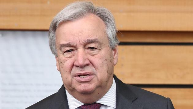 UN Secretary General Antonio Guterres is likely to use the opportunity of discussions during the high-level UN General Assembly session that begins here next week to raise the Kashmir issue(Getty Images)