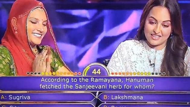 Sonakshi Sinha is the new target of trolls after she made two wrong guesses for a question on Ramayana during her appearance on Kaun Banega Crorepati.
