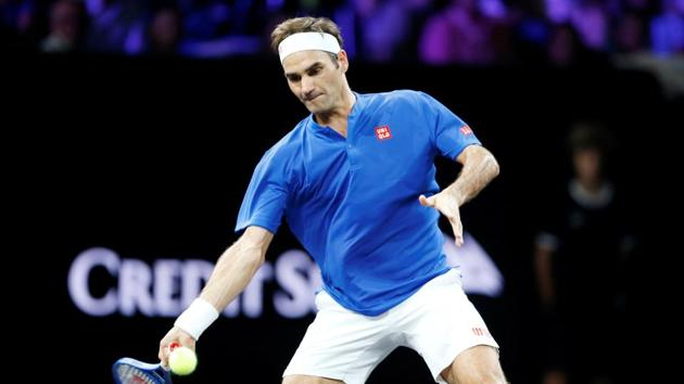 Team Europe's Roger Federer in action during his singles match against Team World's Nick Kyrgios(REUTERS)