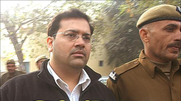 Manu Sharma was convicted in December 2006 for the murder of Jessica Lal and sentenced to life imprisonment.(HT Photo)