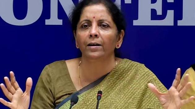 """Asked if the government will consider revising the fiscal deficit target, Finance Minister Nirmala Sitharaman said these are """"decisions taken near the Budget"""".(ANI PHOTO.)"""