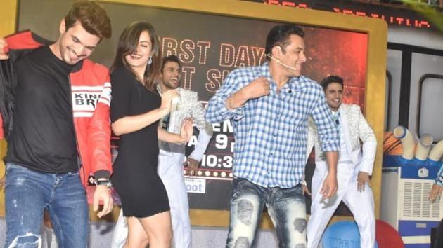 Bigg Boss 13: Salman Khan unveils the latest season of the reality show.(Varinder Chawla)