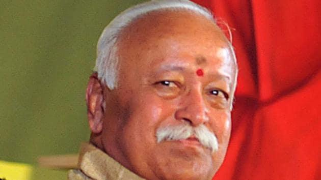 RSS Chief Mohan Bhagwat(HT PHOTO)
