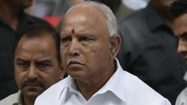 The three-month-old BS Yediyurappa government now hangs in the balance after bypolls were announced.(HT PHOTO.)