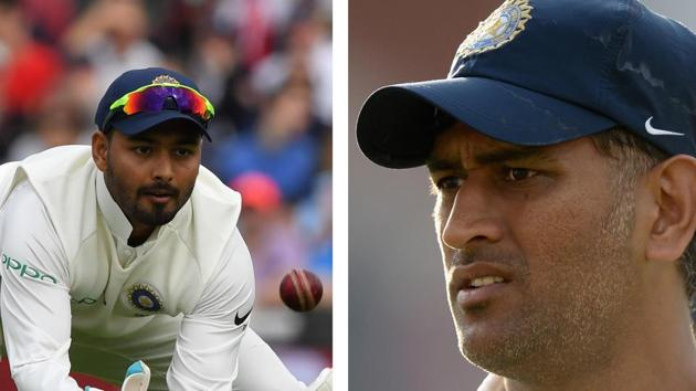 Pant has been viewed as a successor to MS Dhoni(HT Collage)