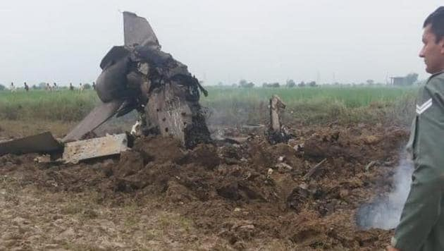 Both the pilots ejected safely from the fighter aircraft. They are safe.(Photo: ANI photo)