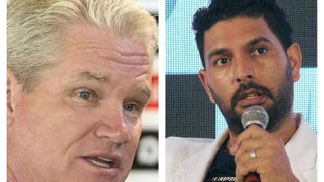 Dean Jones (L) and Yuvraj Singh (R) have different opinions about Rishabh Pant(HT Collage)