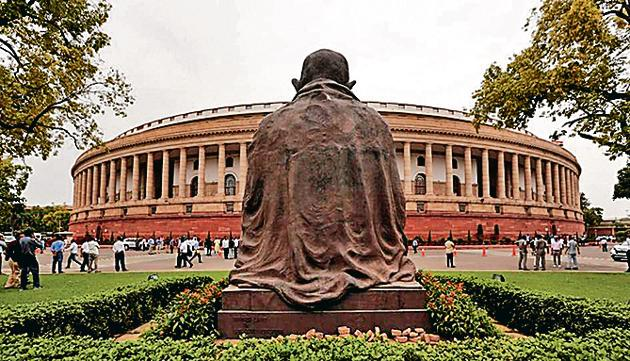 The Lok Sabha Speaker's office told HT that big water dispensers will be installed in large numbers across the Parliament building, library and the annexe.(REUTERS)