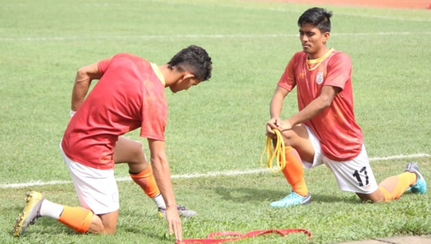 India U18 players during training.(AIFF)
