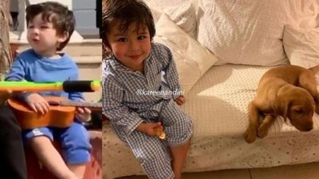New pictures and videos of Taimur have surfaced online.