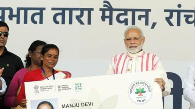 Within one year of the scheme, 46.5 lakh hospital treatments were provided, amounting to claims worth Rs 7,490 crore(HT Photo)