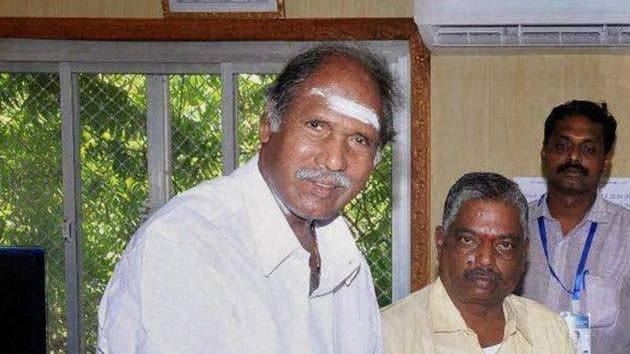 Former Puducherry CM N Rangasamy's party will contest the Kamraj Nagar bypoll after a poll pact with AIADMK instead of the BJP(PTI Photo/File)