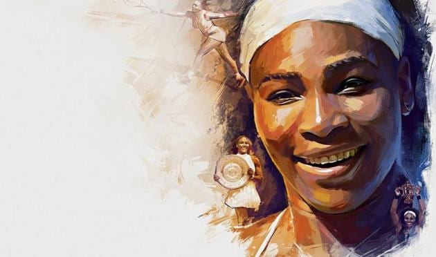 One of the greatest professional tennis players, Serena Williams has won 23 Grand Slam titles and has held the world's top position right times between 2002 and 2017.(Illustration: Gajanan Nirphale)
