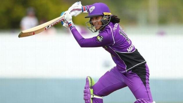 India's Smirti Mandhana representing Hobart Hurricanes in WBBL(Getty Images)