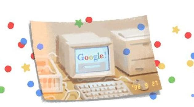 Search engine giant Google is celebrating its 21st birthday with a doodle.(Google)