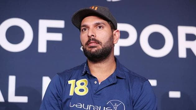 Yuvraj Singh speaks during an event(Getty Images for Laureus)