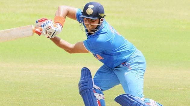 Indian cricketer Suresh Raina in action during an ODI(PTI)