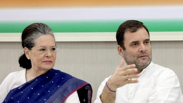 Congress' interim president Sonia Gandhi and MP Rahul Gandhi will campaign for the party in Haryana assembly elections.(ANI File)