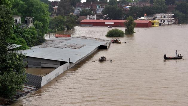 At least 44 people died in incidents of flooding, roof, wall collapse and lightning strike as incessant rain battered various districts of UP(ANI Photo)