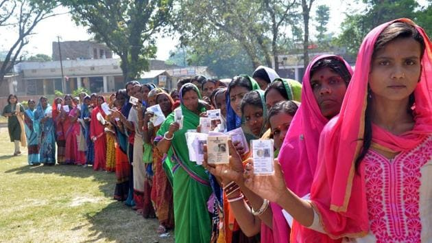Results of four assembly bypolls held in the states of Chhattisgarh, Kerala, Uttar Pradesh and Tripura were announced on Friday.(HT Photo)