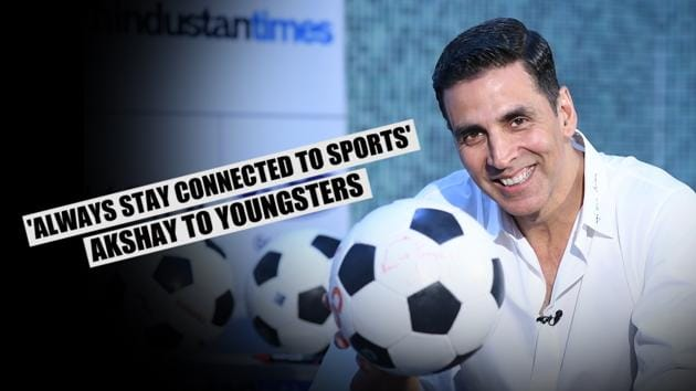 Bollywood actor Akshay Kumar inaugurated the 5th season of HT's Great Indian Football Action (HT GIFA) in New Delhi on Saturday. Akshay spoke about the importance of sports in a youngster's life and how one should never stop playing sports. Akshay has been associated with HT GIFA for five years. Later, the Bollywood actor took part in various fun activities during the event.