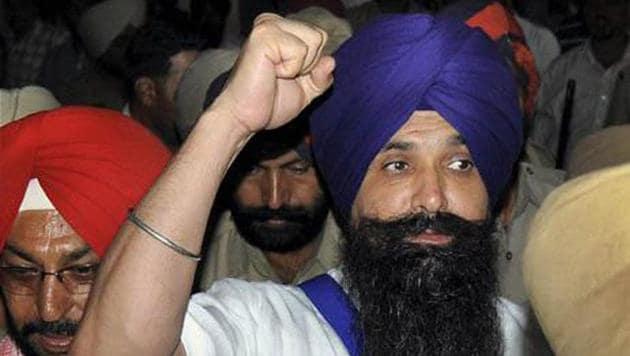 The death sentence of dreaded Babbar Khalsa terrorist, Balwant Singh Rajoana-- convicted for the assassination of former Punjab Chief Minister Beant Singh -- has been commuted to life.(HT File Photo)