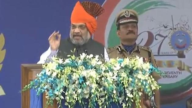 Home Minister Amit Shah attended the 27th foundation day of the Rapid Action Force in Ahmedabad. Home Minster lauded the forces and said that PM Modi abrogating Article 370 in the valley is a tribute to all the martyred jawans. He added that Kashmir will now walk on the path of peace and development. Amit Shah also said that if anybody tries to disturb peace in the valley, the security forces will take care of them.
