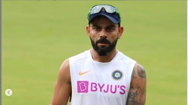 India captain Virat Kohli in training.(Indian Cricket/Instagram)