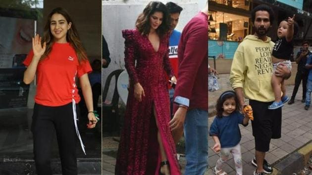 Sara Ali Khan, Sunny Leone and Shahid Kapoor with kids Misha and Zain spotted in Mumbai.