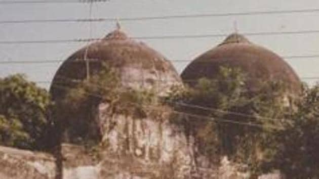 """In course of the hearings last month, senior lawyer CS Vaidyanathan had underscored that there could not be joint possession of Lord Ram's birthplace since the """"janmasthan [birthplace] itself is the deity"""". (Babri Masjid in Ayodhya - HT Photo)"""