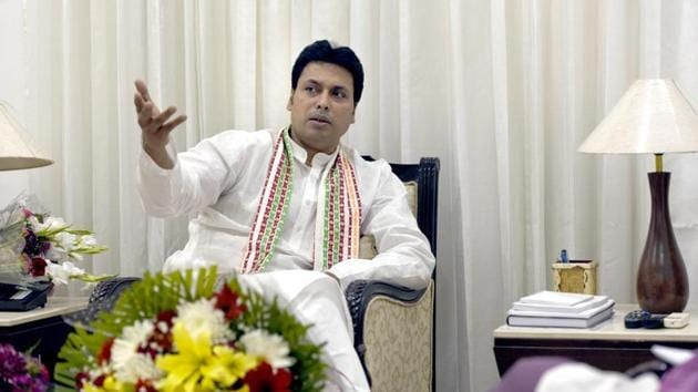 Biplab Deb's BJP government in Tripura has decided to approach the Supreme Court to challenge the High Court's order banning animal sacrifice in temples.(HT PHOTO)