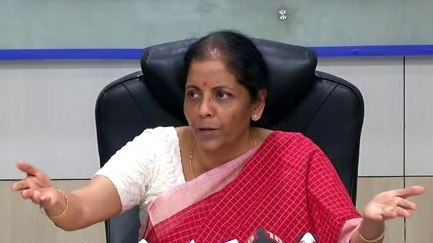 Union Finance Minister Nirmala Sitharaman, on September 20, 2019, announced slashing of corporate tax rates for domestic firms from 30% to 22% and for new manufacturing companies from 25% to 15% to boost economic growth.(ANI)
