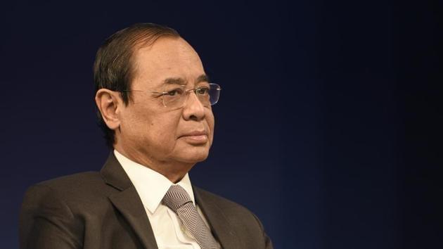 Chief Justice of India Ranjan Gogoi has recused himself from a plea by Gautam Navlakha regarding the Bhima Koregaon case.(HT Photo)