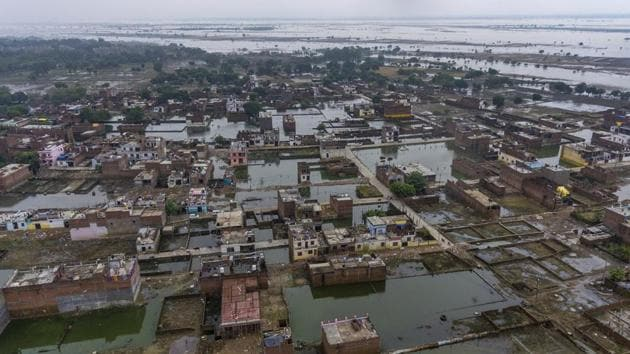 Nearly 850 prisoners from Uttar Pradesh's Ballia District Jail have been shifted to jails in the neighbouring districts following heavy water-logging inside the barracks after incessant rains since Wednesday.(AP Photo)