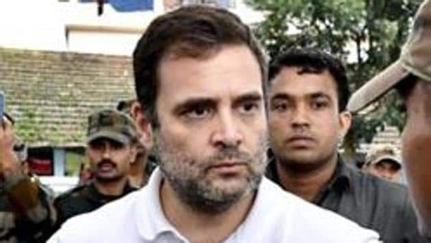 Congress leader Rahul Gandhi urged both state and central governments to safeguard the interests of the local community.(PTI PHOTO.)