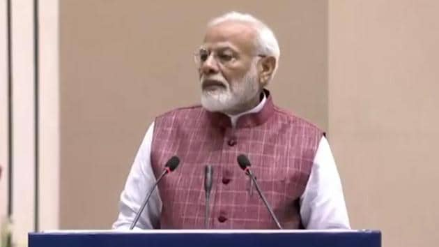 Prime Minister Narendra Modi attended the valedictory function of 'Arogya Manthan' in Vigyan Bhawan. Arogya Manthan is a two-day event organised by National Health Authority. The event marked the completion of a year of Ayushman Bharat scheme.
