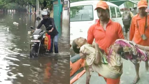 Water has entered inside Malda Medical College and Hospital due heavy showers in parts of West Bengal. Rains led to waterlogging in several wards including emergency service and operation theatres.