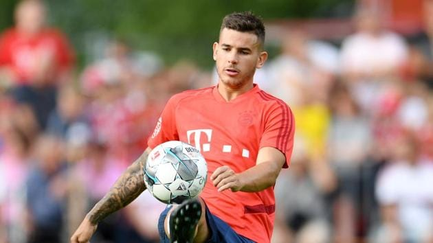 Bayern Munich's Lucas Hernandez during training.(REUTERS)