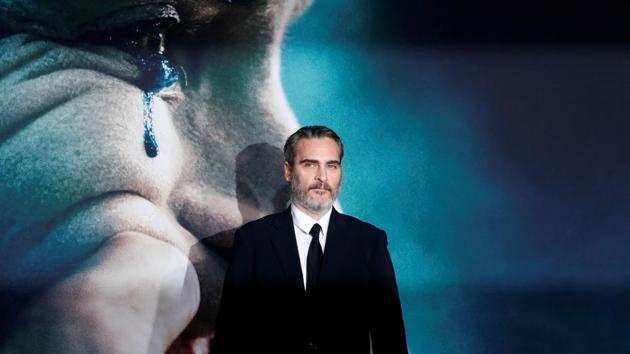 Joaquin Phoenix attends the premiere for the film Joker in Los Angeles.(REUTERS)