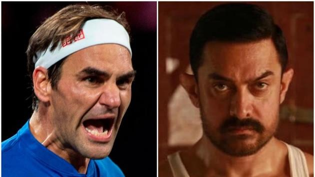Guess which movie Roger Federer is watching today?