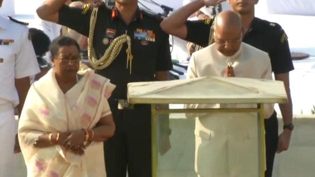 President Kovind led the nation in paying tribute to the father of the nation. Leaders from across party lines gathered at Rajghat to play floral tributes to the Mahatma. Interim Congress President Sonia Gandhi was also present at Rajghat and paid tributes to Mahatma Gandhi. Both the BJP and the Congress have planned separate events to honour the Mahatma on his 150th birth anniversary.