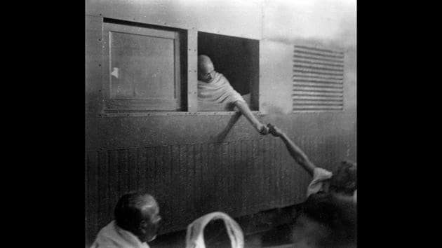 Mahatma Gandhi seen collecting funds for Harijans in Assam, January 1946. Assam was unsure about her own political future; the air was also thick with communal polarisation. When the British Cabinet Mission plan created a political imbroglio, Gandhi sided with Assam and asked the people to remain steadfast. (Courtesy National Gandhi Museum)