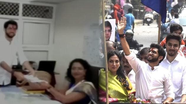 Shiv Sena leader Aaditya Thackeray filed his nomination for the upcoming Maharashtra Assembly elections on Thursday. The Thackeray scion is the first member of his family to contest elections. He is seeking an entry into the Maharashtra Assembly from the Worli constituency. Aaditya also held a roadshow in Mumbai with a mass of Shiv Sena supporters celebrating his nomination.