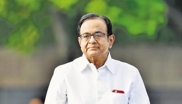 Congress leader P Chidambaram(Ajay Aggarwal/HT PHOTO)