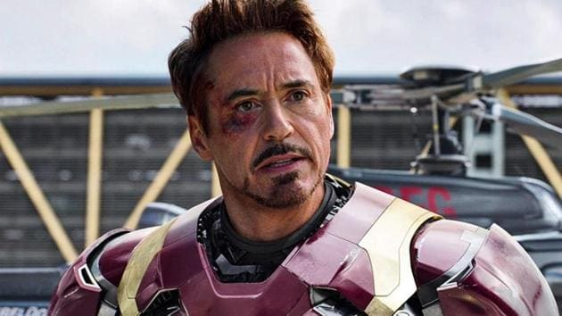 Robert Downey Jr as Tony Stark/Iron Man in a still from Captain America: Civil War.
