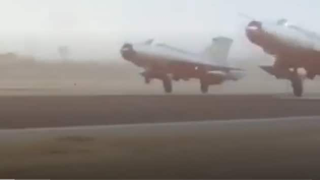 Several aircraft are seen targeting and destroying the terrorist bases in the video released by IAF on Balakot airstrike.(Photo: Video screengrab)