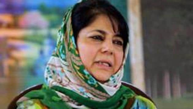 In a post, Mehbooba Mufti's handle criticised the Centre for pushing the country to an economic crisis.(PTI Photo)